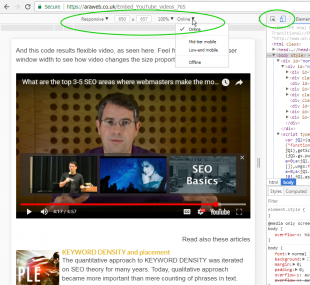 Embed YouTube videos with responsive code